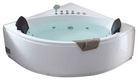 Seated Bathtub by 5 Rounded Modern Seat Corner Whirlpool Bath Tub With Fixtures Modern Bathtubs By