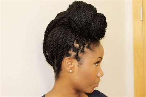 hairstyle ideas for kinky hair senegalese twist updo hairstyle kinky curly hair