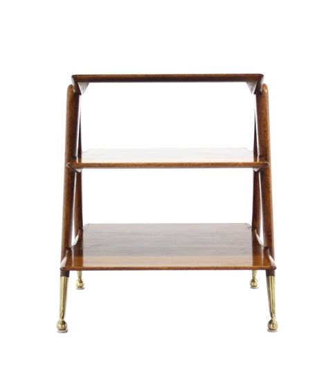 3 Tier Magazine Rack by Three Tier Walnut Side Table Or Magazine Rack At 1stdibs