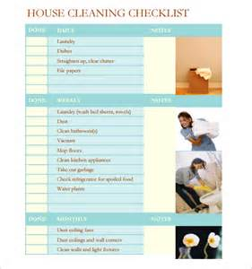 House Cleaning Template by Sle House Cleaning Checklist 9 Documents In Pdf Word