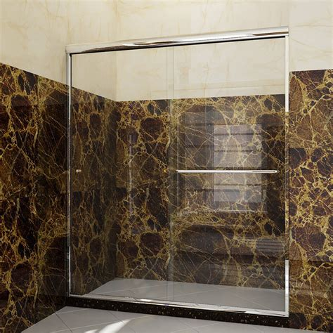 Sliding Frameless Glass Shower Doors Chrome 60 Quot X 72 Quot Frameless 2 Sliding Shower Door 1 4 Quot Clear Glass Free Shipping Ebay