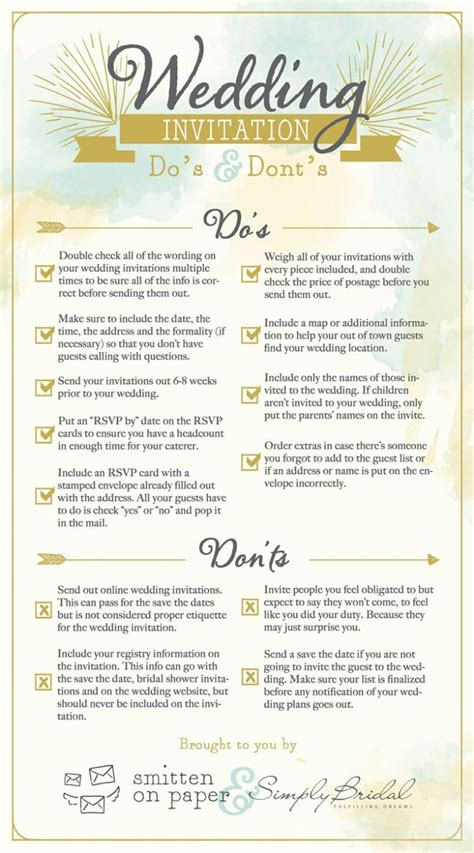 How To Invite For Wedding by 6 Helpful Wedding Invitation Checklists Modwedding