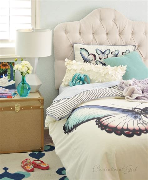 girls tufted headboard spotted pbteen in your room pbteen blog