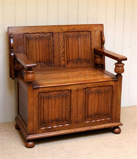 antique monks bench solid oak monks bench antiques atlas
