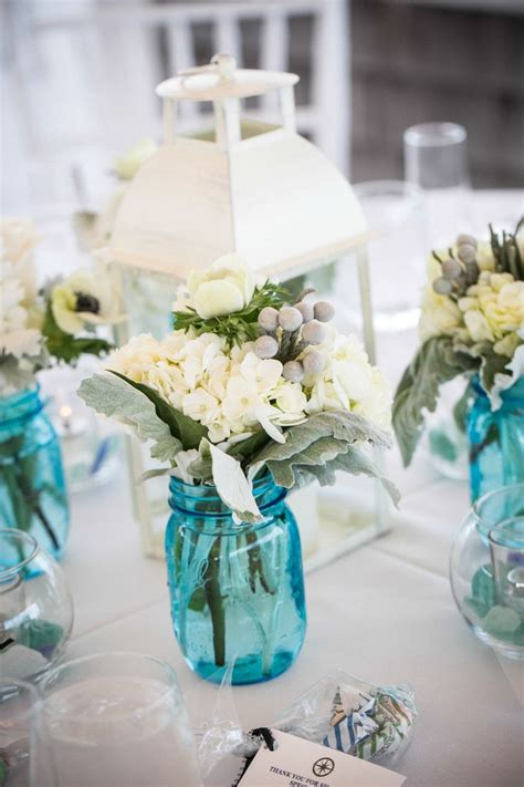 blue  rustic blue mason jars wedding ideas