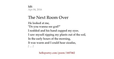 poem i am in the next room the next room by smith hello poetry
