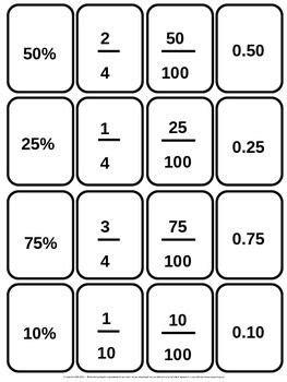 printable decimal number cards 56 best images about breuken procenten en decimalen on