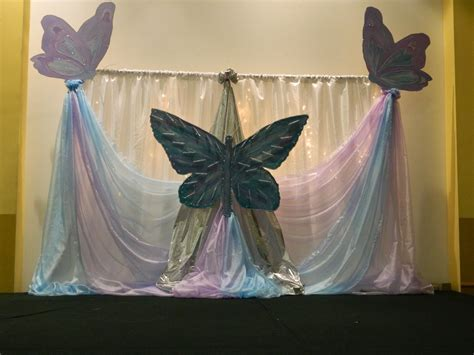 Butterfly Theme stage decoration   Party Ideas   Stage