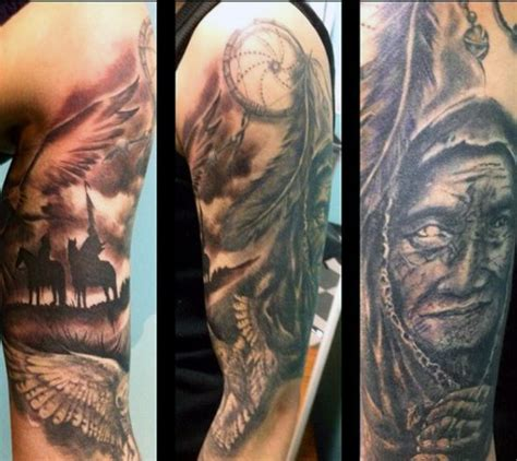 native american tattoo sleeve 100 american tattoos for indian design ideas