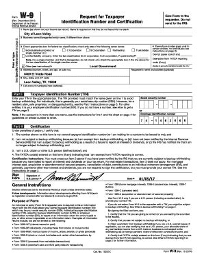 irs w-9 2017 Forms and Templates - Fillable & Printable