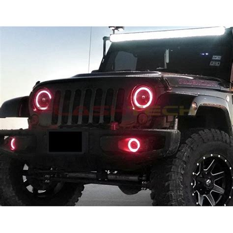 Jeep Halos Jeep Wrangler V 3 Fusion Color Change Led Halo Headlight