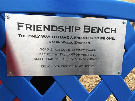 friendship bench school four former thunder hill elementary students create