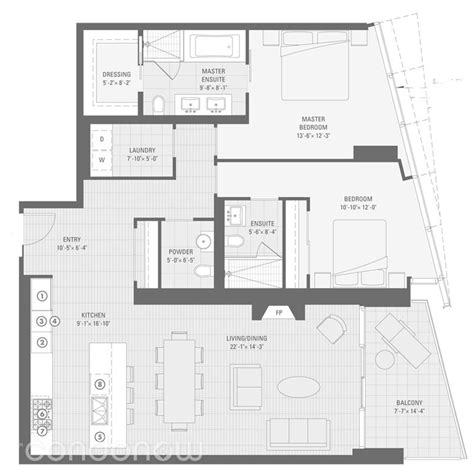 University Floor Plan by Shangri La 180 University Avenue Condo Floor Plans