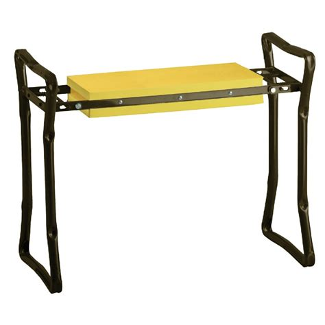 shop garden treasures garden kneeling bench at lowes com