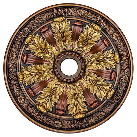 decorative ceiling medallions deco illusion bronze gold copper 30