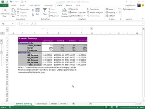 book report summary exle how to produce a summary report in excel 2013 dummies