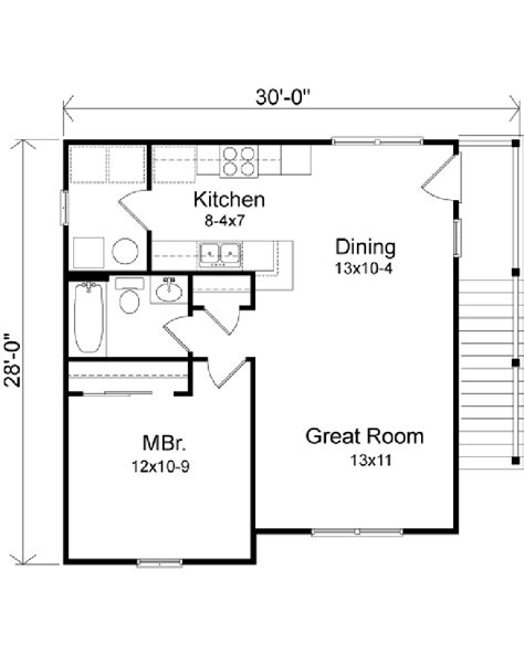 garage apartment layouts garage plans 28 x 30 famin