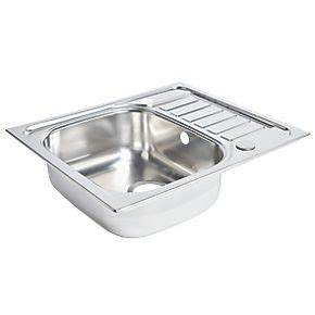 screwfix kitchen sinks spacesaver sink stainless steel 1 bowl polished sinks