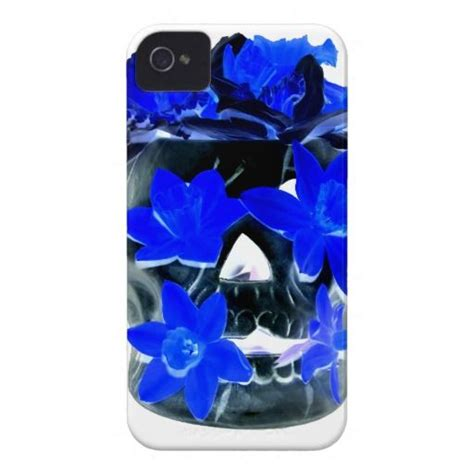 Blue Skulls Iphone 55c5s Cover neon blue and black daffodil skull iphone 4 covers
