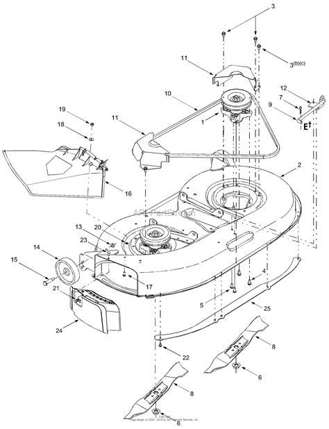 cub cadet mower deck parts diagram mtd 13a7660g752 2004 parts diagram for deck assembly quot f
