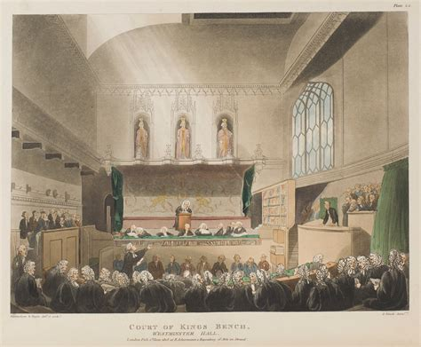 court of kings bench microcosm of london plates from volume i romantic london