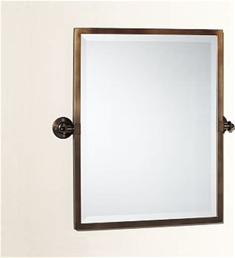kensington pivot mirror rectangle antique bronze finish