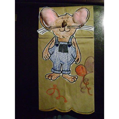 paper bag mouse puppet pattern a kindergarten mouse craft for mouse themes and books