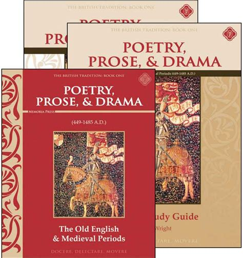 prose and poetry for my phenomenal books poetry prose drama book i set memoria press