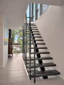 Single Stair Handrail Best Single Spine Stair Design Ideas Remodel Pictures