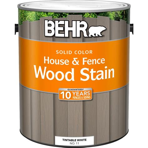home depot stain colors behr 1 gal white base solid color house and fence