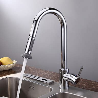 Kitchen Faucets Pull Down by Chrome Finish Contemporary Pull Down Kitchen Faucet