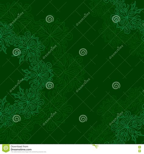 pattern round background ornamental round organic pattern on a green background