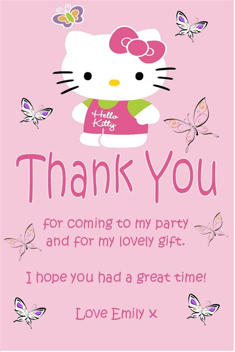 Hello Thank You Card Template by Personalised Hello Thank You Cards Design 2