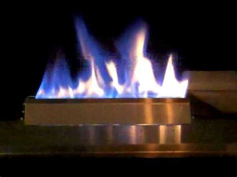 ventless gas glass fire stainless steel fireplace and blue