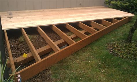 ground level deck footings home design ideas
