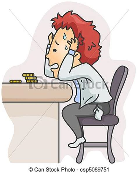 Little House Plans Free clipart of financial problems illustration of a man