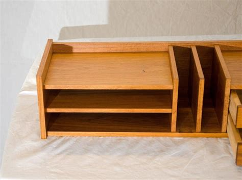 desk l with organizer organizer desk l handmade modern solid wood desk