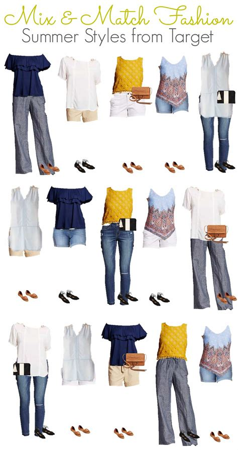 Summer Trends Dont Sweat It 5 Ways To Look Polished When The Temperature Rises Second City Style Fashion Second City Style by Summer Mix Match Budget Wardrobe From Target I Don T