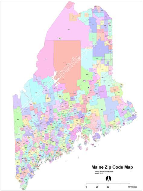 Zip Code Map Maine   maine area code map kansas map