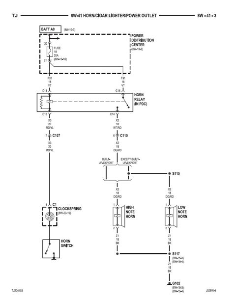 jeep yj horn diagram wiring diagrams wiring diagram schemes