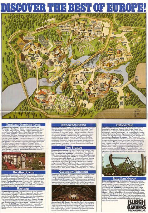 Busch Gardens Location by Theme Park Brochures Busch Gardens The Country