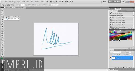 membuat watermark tanda tangan cara membuat tanda tangan dengan photoshop smprl id