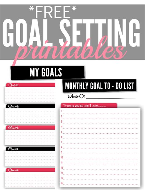 free printable monthly goal sheets how to set your financial goals plus free goal setting