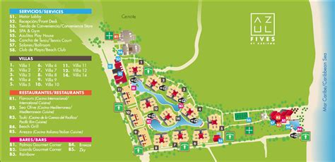 azul resort map azul fives