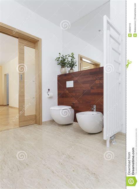 Toilet Met Bidet Toilet En Bidet Stock Afbeelding Afbeelding Bestaande Uit