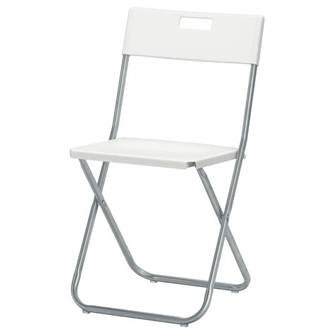 foldable chairs gunde folding chair white ikea