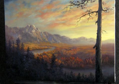 acrylic painting kevin paint with kevin hill autumn valley river diy fyi