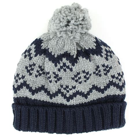children s knitted hat patterns hawkins childrens chunky knit beanie bobble hat with