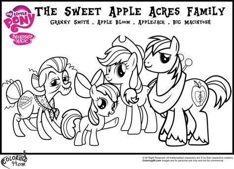 my little pony names coloring pages mlp apple family coloring pages minister coloring