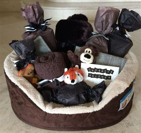 new puppy gifts 17 best ideas about gift baskets on auction baskets themed gift